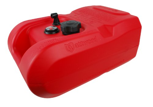 Attwood epa compliant fuel tank with gauge 6 gallon for Gas tanks for outboard motors
