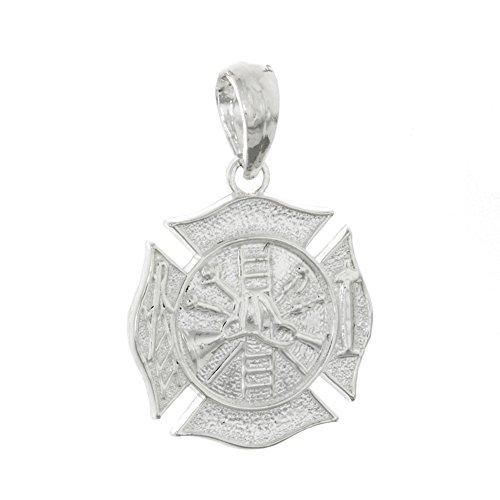 Profession Pendant, 3D Fireman Shield Maltese Cross ()