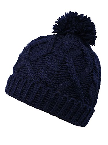Boys' Winter Cable Knit Pom Pom Beanie Winter Hat Cap For Boys/Girls,Navy Old Navy Winter Hat
