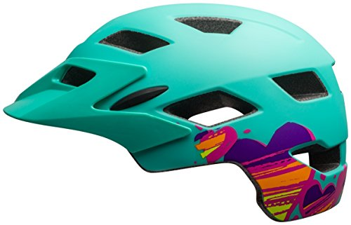 Bell Sidetrack Youth Bike Helmet - Kid's Matte Mint Hearts