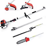 Maxtra 42.7cc Multi-Functional 4 in 1 Pole Hedge Trimmer