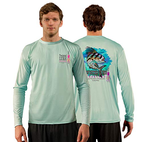 Red Tuna - Twisted Lure Performance Quick Dry Long Sleeve Fishing Shirt for UV UPF 50+ (L, Seagrass)