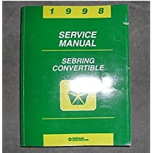 1998 Chrysler Sebring Convertible Service Shop Manual