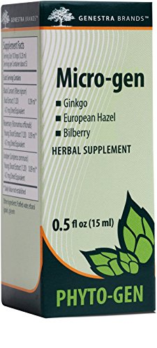 Genestra Brands – Micro-gen – Gingko, European Hazel, and Bilberry Herbal Supplement – 0.5 fl oz (15 ml)