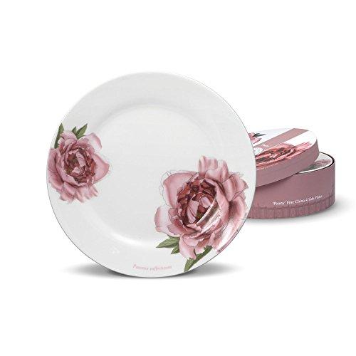 Royal Botanic Gardens Kew, Peony Salad Plates, Set - Peony Porcelain
