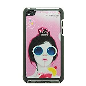 AES - Sunglasses Girl Pattern Hard Case for iPod touch 4