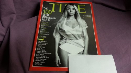 Time Magazine May 5 - 12 2014 Beyonce Cover: the 100 Most Influential People, Beyonce (top) Cover, Robert Redford Underneath, Mary Bara Underneath and Jason Collins Underneath Cover