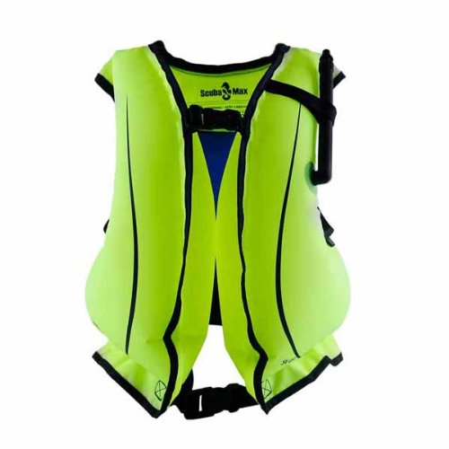 Surfing Kayaking Snorkeling Snorkel Life Vest with Oral Inflator, Adult by ScubaMax