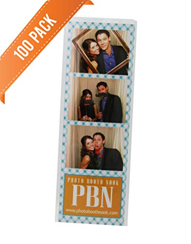 (100 Photo Booth Bookmark Sleeve Strip Protectors for 2