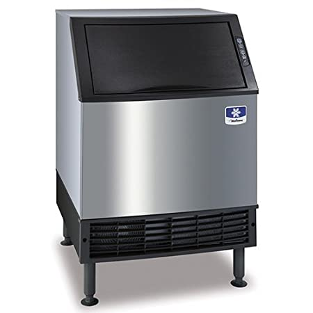 115V Bin Manitowoc UDF0140A NEO 26 Air Cooled Undercounter Dice Cube Ice Machine with 90 lb 135 lb