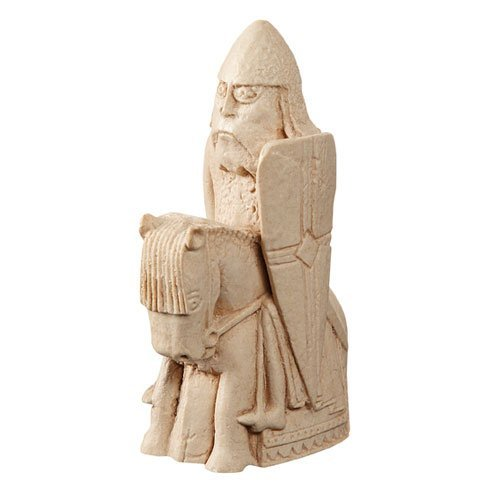 The Lewis Chessmen - KNIGHT - Replica chess piece - 9.5cm by Buzz