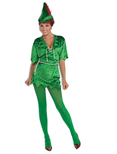 Peter Pan Female Adult Costume - Xtra Small/Small fits Sizes 2-6 Green]()