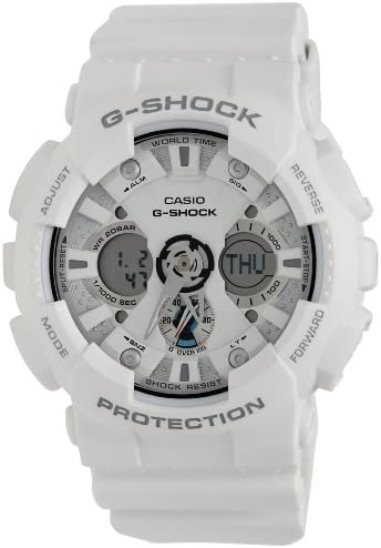 Casio G-Shock Ana-Digi World Time White Dial Men s watch GA120A-7A
