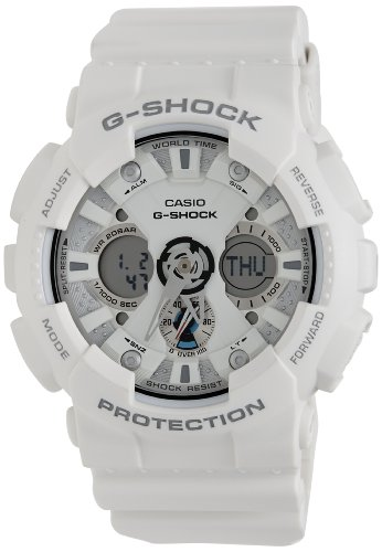 Watch 200m G-shock Time World (G-Shock Ana-Digi World Time White Dial Men's watch #GA120A-7A)