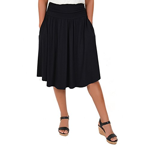 Stretch+is+Comfort+Women%27s+Plus+Size+Pocket+Skirt+Black+2X