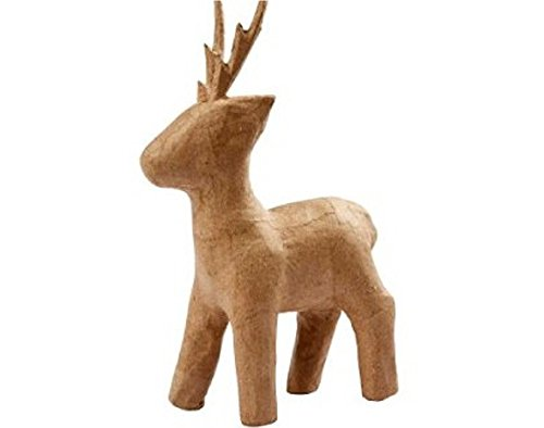(225mm Paper Mache Rudolph Reindeer to Decorate for)
