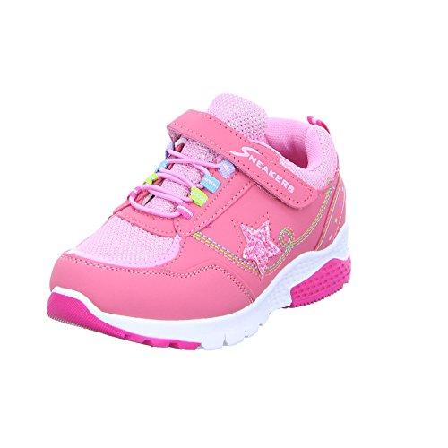 Sneakers T40-05-R Mädchen Klettverschluss/Slipper Halbschuh Pink (Pink)
