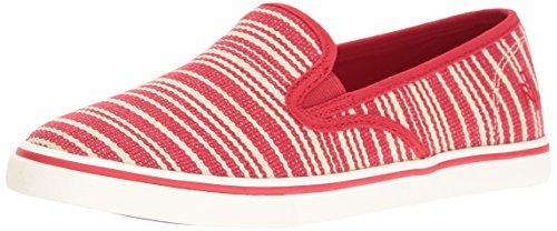 Lauren Ralph Lauren Janis Fashion Sneaker Red Stripe