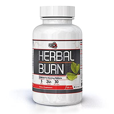 Pure Nutrition USA Herbal Burn 100% All Natural Fat Burner Best Weight Loss Management Stimulation Appetite Control Suppressant Sports Dietary Supplement Rapid Burning Formula 60 120 Caps