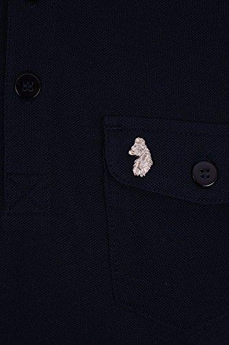 Luke 1977 Herren Poloshirt blau dunkles marineblau
