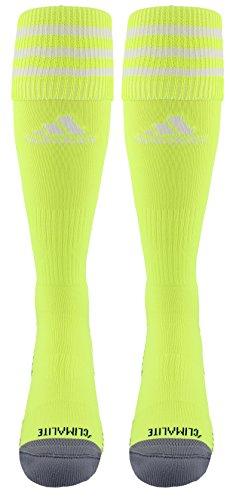 Adidas Copa Cushion III Over The Calf Soccer Socks (Solar Yellow/White, Large)