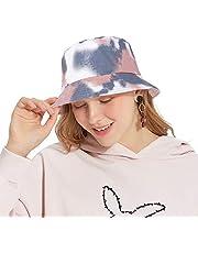 DOCILA Fashion Tie Dye Aesthentic Bucket Hat for Women Vibrant Design Cotton Fisherman Sun Caps
