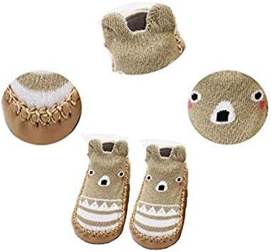 XM-Amigo 4 Pairs of Baby Boys Girls Indoor Pre-Walker Shoes Slippers Anti-Slip Shoes Socks