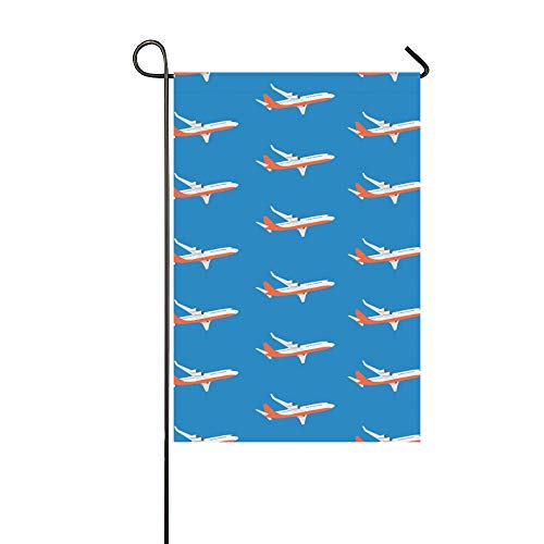WIEDLKL Home Decorative Outdoor Double Sided Aircraft Airplane Plane Flying Garden Flag House Yard Flag Garden Yard Decorations Seasonal Welcome Outdoor Flag 12x18in Spring Summer Gift