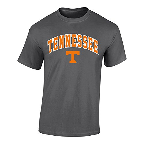University Tennessee Jersey (Tennessee Volunteers TShirt Arch Charcoal - M - Heather Gray)