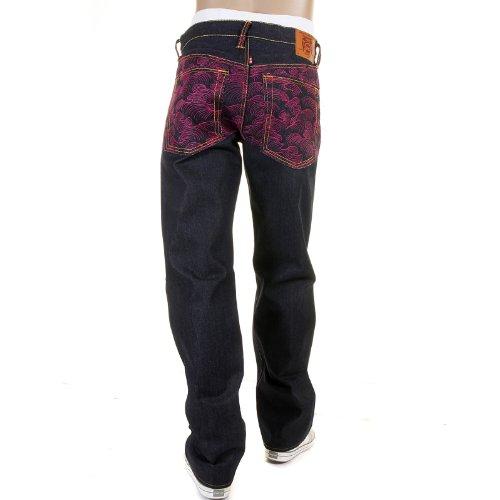RMC Jeans dos complet Fuchsia Tsunami Wave Denim redm1911
