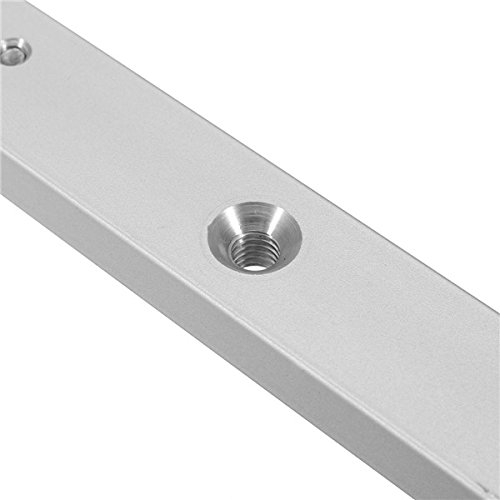 Wanrane Miter Bar,450mm Aluminum Alloy Rail Miter Bar Slider Table Saw Gauge Rod Wood Working Tool