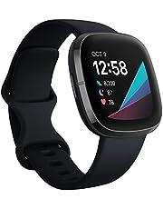 Fitbit Sense – avancerad hälsa – Smartwatch med verktyg för hjärthälsa, stresshantering och för visning av hudtemperatur – trender