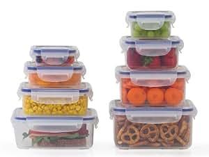 Popit Little Big Box Food Plastic Container Set, 8 Pack