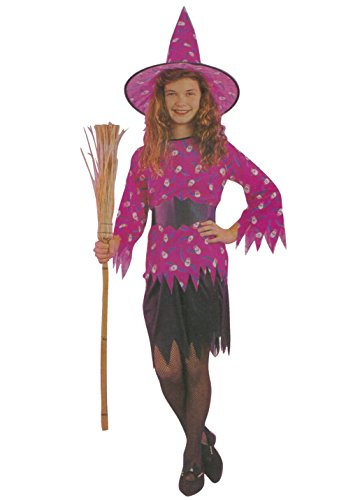 Kids Girls Hagatha the Witch Costumes Age 4-12 Years (Large (Age 10-12 Years), (Minion Pirate Kids Costumes)