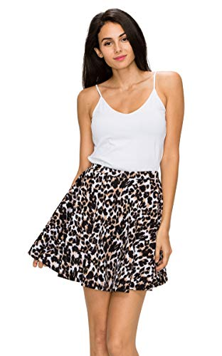 Jual MBJ Womens Basic Versatile Stretchy Flared Skater Skirt - Made ... 80253c426