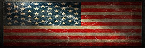 Nostalgia Decals American Flag Version 1 Full Size Rear Truck Window Graphic (1 Rear Window Graphic)