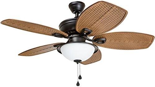 Harbor Breeze Cedar Shoals 44-in Oil Rubbed Bronze Indoor/Outdoor Ceiling Fan