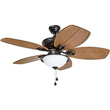 Harbor Breeze Cedar Shoals 44-in Oil Rubbed Bronze Indoor Outdoor Ceiling Fan with Light Kit