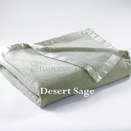 Empress Silk Plush Blanket King Desert Sage