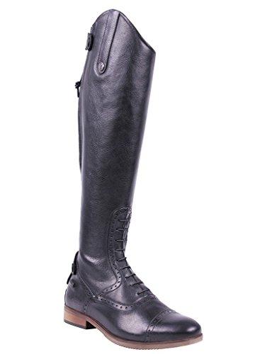 Damen Luxus Größe 36 Schwarz 42 Sophia normale Reitstiefel Wadenweite Leder QHP d6xPd