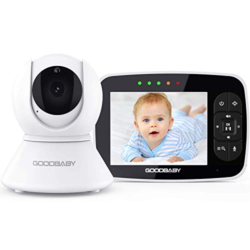 Video Baby Monitor with Remote Camera Pan-Tilt-Zoom|Keep Babies Safe with 3.5' Large Screen, Night Vision, Talk Back, Room Temperature, Lullabies, 960ft Range