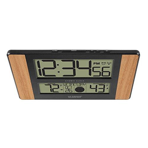 La Technology 513-1417 Atomic Outdoor Temperature, Oak