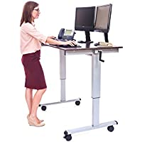 Offex OF-STANDUP-CF48-DW Crank Adjustable Computer Workstation Stand Up Desk, 48-Inch