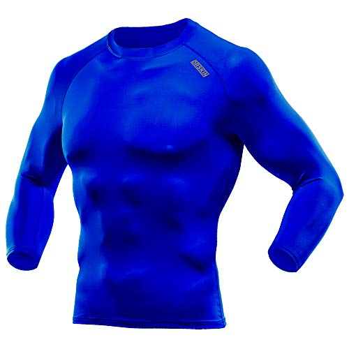 DRSKIN] Compression Tight Shirt Base Layer Running Shirt Men (Round SBU-BU06, ()