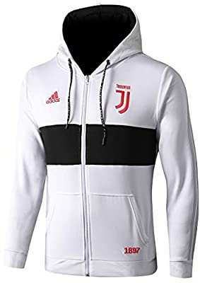 NDK-Store Men's 2019-2020 Official Juventus Full Zip Hoodie White