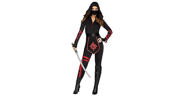 Sexy Ninja Warrior Womens Fancy Dress Costume Large: Amazon ...
