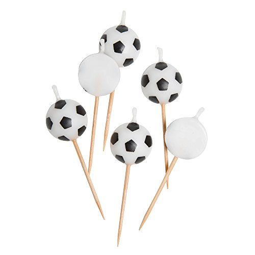Soccer Ball Birthday Candles, 6ct ()