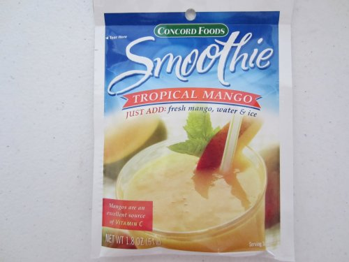 Concord Tropical Mango Smoothie Mix, 1.8-Ounce Packages (Pack of 18)