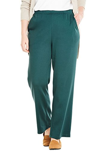 Woman Within Women's Plus Size 7-Day Knit Wide Leg Pant by Woman Within