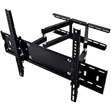"""Happyjoy Dual Articulating Arm TV Wall Mount Bracket for 26-55"""" Samsung Sony LG TVs Screen up to VESA 400x400mm and Super Strong 99lbs Fits 16"""" Studs Wall"""